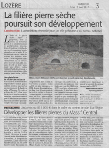 Article Midi libre, 13 mars 2017